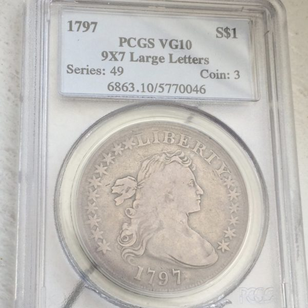1797 PCGS Dollar Coin Front
