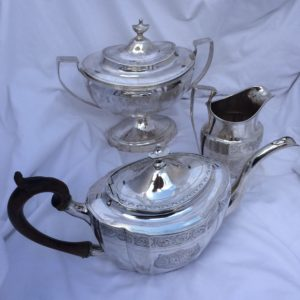 American Silver 3 Pc Tea Set Simmons And Alexander