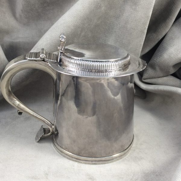 Full View of the Rare Dummer Silver Tankard