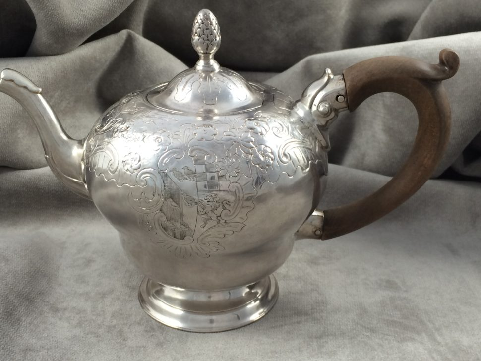 Boston Silver Teapot by Samuell Edwards