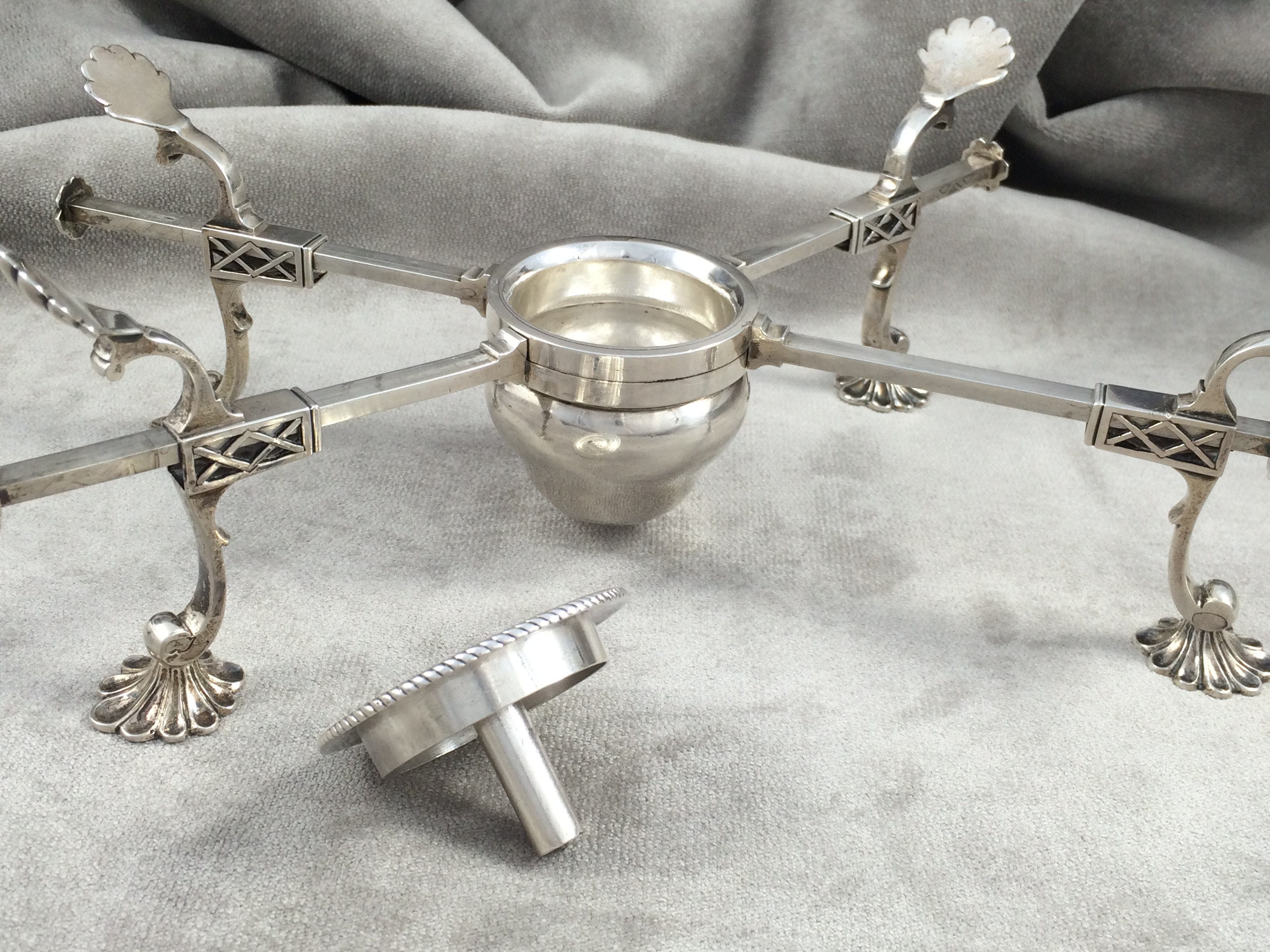 Antique Silver Dish Cross