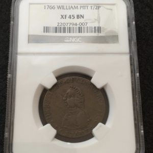 William Pitt 1/2 Coin